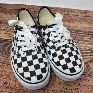 Vans Shoe Sneakers Red White Blue Checkerboard